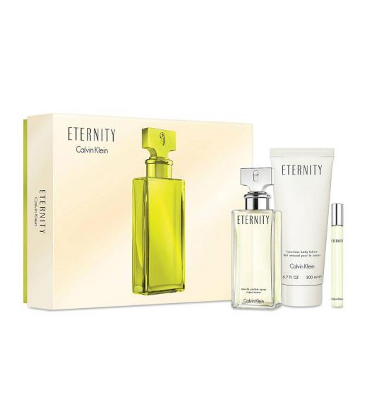 Calvin Klein Eternity Gift Set EDP 100ml, Body lotion 200ml and Miniature 10ml