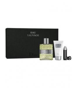 DIOR Eau Sauvage Gift Set EDT 100 ml shower gel Eau Sauvage 50 ml Eau Sauvage miniatures and 3 ml EDT