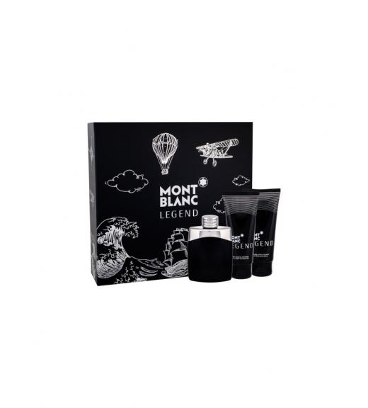 Mont Blanc Legend Gift Set Eau de Toilette 100ml, After shave balm 100ml and Shower gel 100ml