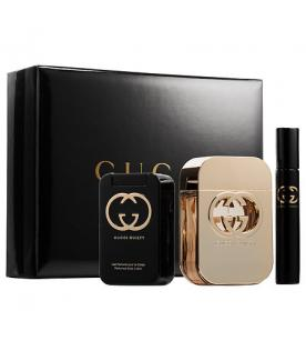 GUCCI Guilty Gift Set EDT 75 ml, body lotion 100 ml, Guilty Guilty EDT miniature 7.4 ml